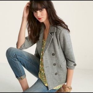 CAbi | Shrunken Peacoat Gray Jacket Style 393 S